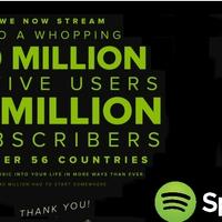 Egy magyarországnyi fizető felhasználó a Spotify-nál