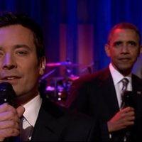 Barack Obama a Roots együttes (és Jimmy Fallon) kíséretében lépett fel