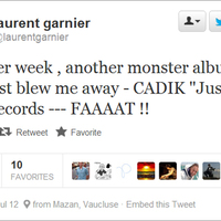 Laurent Garnier favorizálja DJ Cadik lemezét
