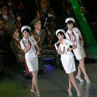 Miniszoknyás katonalányok alkotják Észak-Korea legnépszerűbb zenekarát
