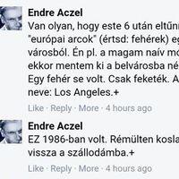 Aczél Endre négert látott!