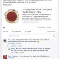 """A második kerületi Jobbik a """"zsidó olimpia"""" ellen gyűjt aláírásokat"""
