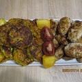 Cukkinis répa röszti görögös fasírttal