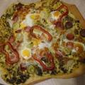 Rusztikus kövön sütőtt pizza