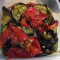 Grillezett paprika-padlizsán saláta