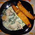 Spenótos csirkecomb mézes sütőtökkel 4 főre