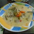 Zöld paszulyos birka leves citromos-tojásos szósszal