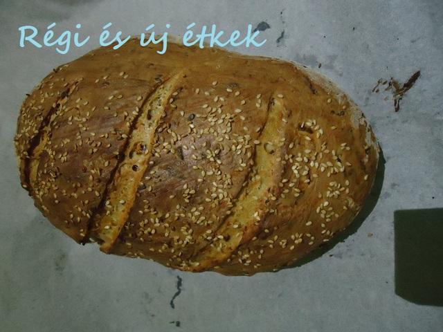 Húsvétra húsvéti répás magvas kenyér