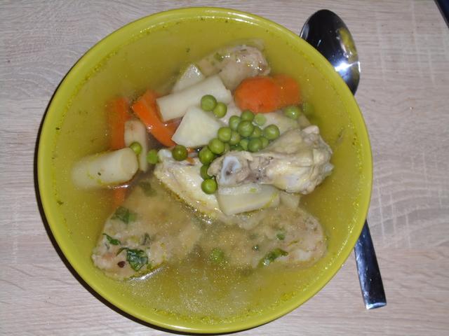 Medvehagymás klasszikus levesbetét