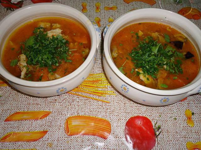 Krémes, sült csirkés, sütőtökös leves: