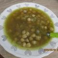 Görög csicseriborsó leves-σούπα ρεβίθια