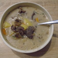 Tárkonyos-erdei gombás szarvasragu leves
