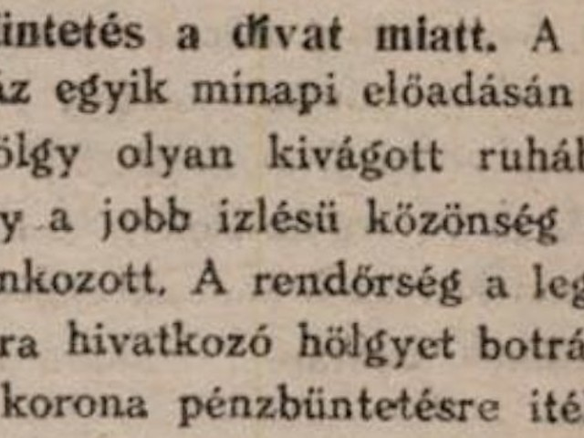 Divat botrány 1920-ban