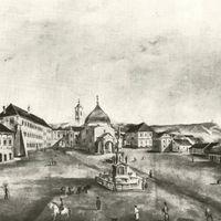 SZÉCHENYI TÉR - A lebontott Czindery és Cséby ház