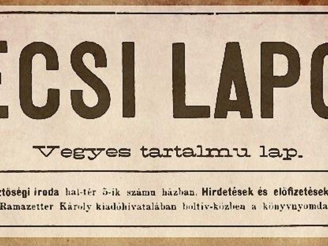Régi újságok történetei - 1.