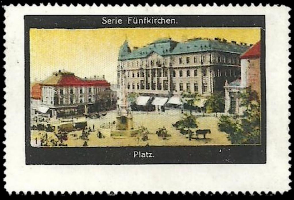A képeslapnak látszó pécsi bélyeg
