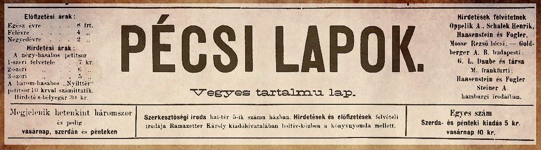 """""""Pécsi Lapok"""" - 1."""