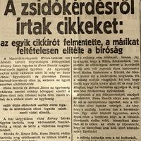 A zsidókérdésről írtak - Esti Ujság 1937 június 3.