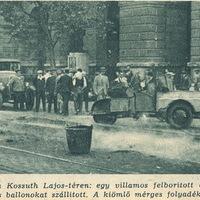 Mérges gázfelhők a Kossuth téren - Képes Pesti Hírlap 1936 szeptember 18