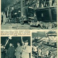 Súlyos baleset a Hév vonalán - 1937 június 22 Képes Pesti Hírlap