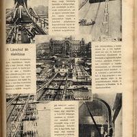 A lánchíd átalakítása - 1914 május 31.  - Érdekes Újság