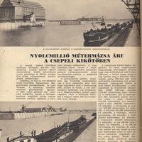 A csepeli szabadkikötő - Képes Vasárnap 1937 június 13.
