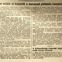 Mégsem tolják arréb a templomot, mert - Pesti Hírlap 1937 június 17
