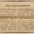 Páger Antal hazatért Argentínából - Szabad Nép 1956. szeptember 2.