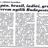 Vegyes vállalati formában nyílnak a külföldi éttermek - 1986 május 30