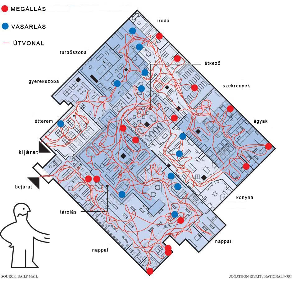 ikea térkép Az IKEA labirintus   Reklámfogás ikea térkép