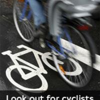 Figyelem teszt, a biciklisek védelmére