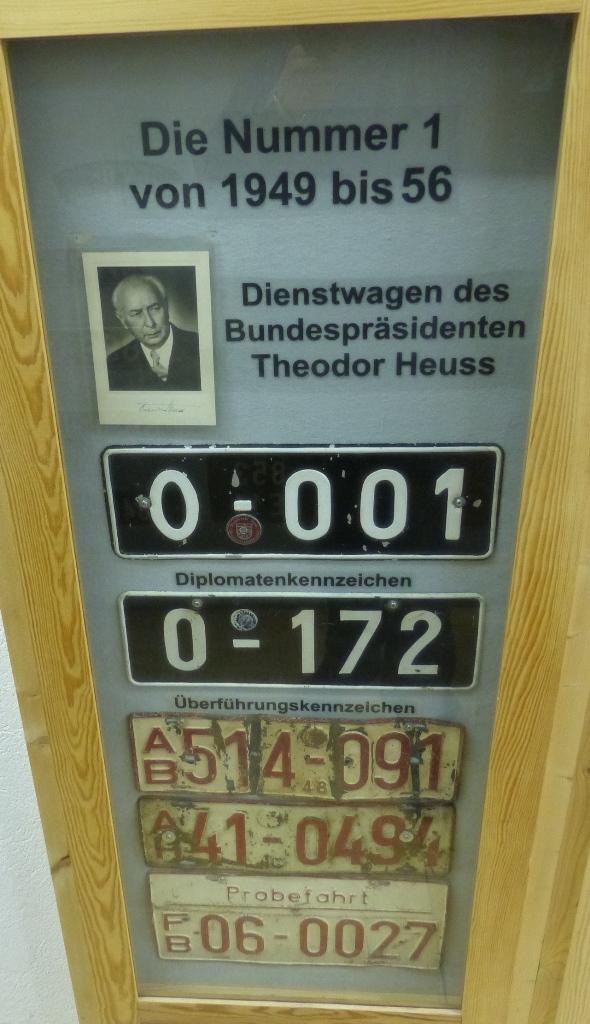 Az elnöki rendszám
