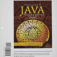 Student Value Edition For Introduction To Java Programming, Brief Version Plus MyProgrammingLab With Pearson EText -- Access Card Package (10th Edition) Books Pdf File