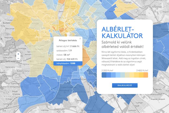 Térképre vittük a budapesti albérletárakat