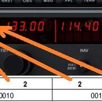 NAV1 - COM1 adatok a szimulátorból