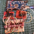 LED vezérlés: MAX7221 + Arduino