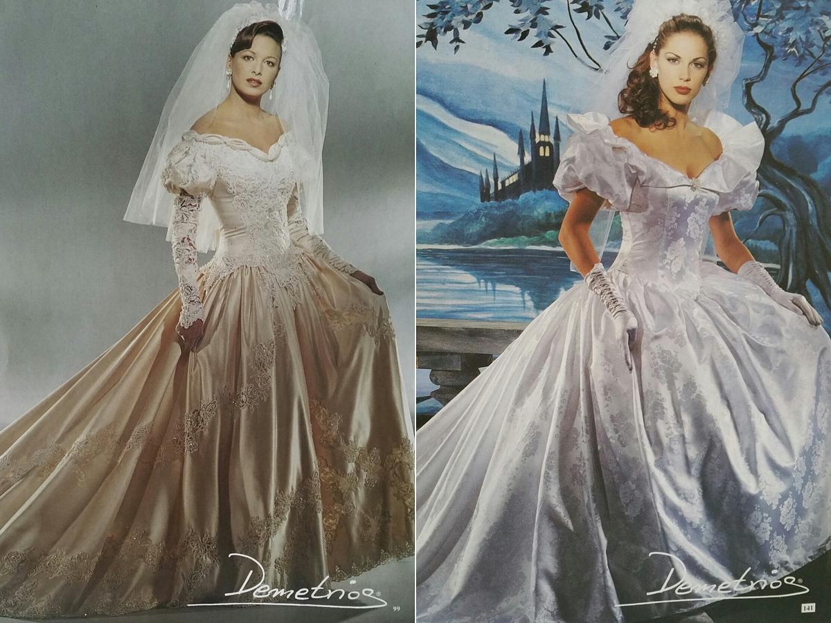 Akkoriban nem volt kirívó, ha valaki habcsóknak öltözött az esküvőjén.