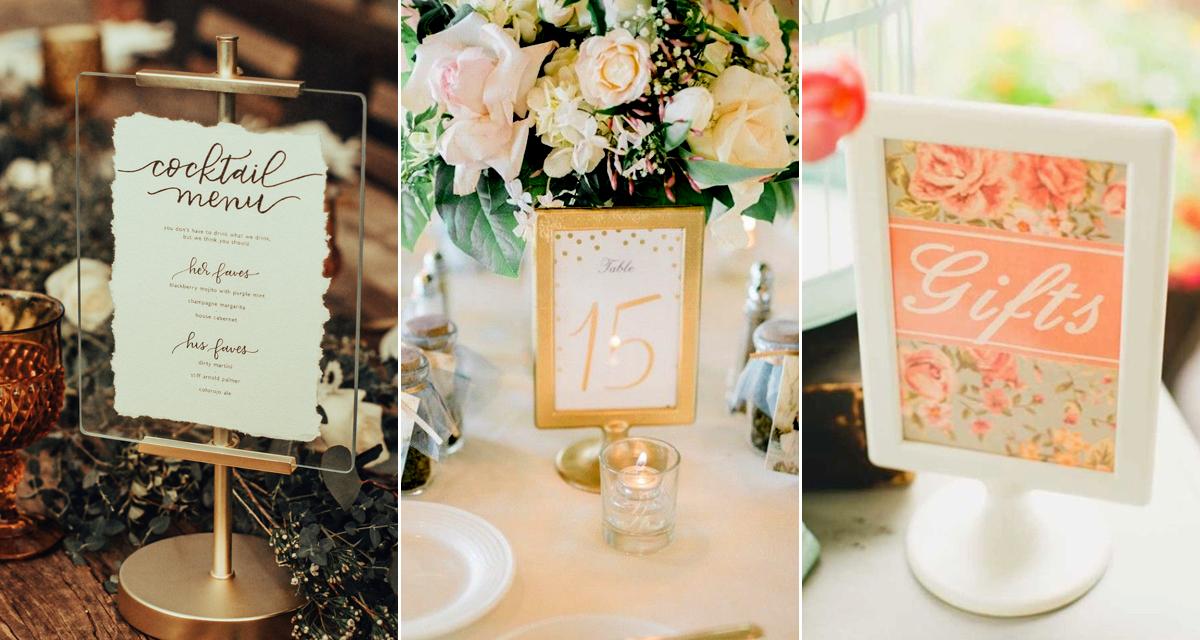 Ennyi mindenre használhatsz egy képkeretet az esküvőn - Filléres ötletek