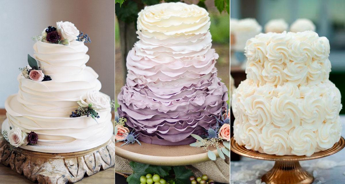 Fodros esküvői torták: olyan gyönyörűek, hogy kár felvágni őket
