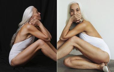 A 63 éves modell még mindig észbontóan szexi: csak az ősz haja árulkodik a koráról