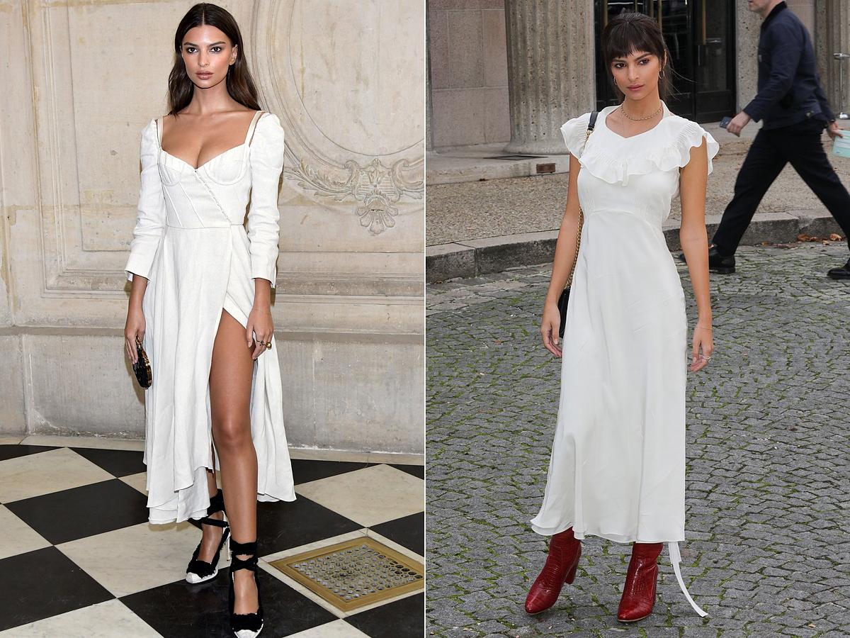 A romantikus ruhafazon és a fehér szín remekül áll neki.
