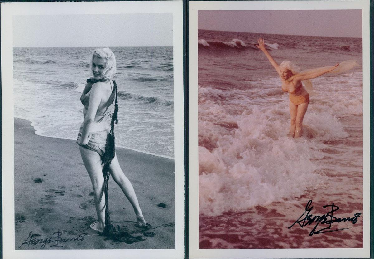 Hínárral a vállán incselkedett viccesen a fotóssal a színésznő, vagy épp a hűs habokban lubickolt. <br />Fotók: George Barris.