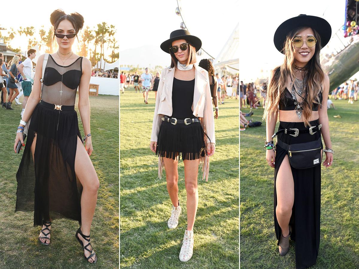 A vagány, fekete öltözékek sohasem mennek ki a divatból, különösen, ha fesztiválról van szó.