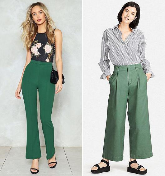 A bokavillantós, bő szárú palazzo nadrágok a magasabb nőkön mutatnak jól. Válassz helyettük enyhén bővülő fazonú, magas derekú nadrágot, melynek szára a lábfejig ér.