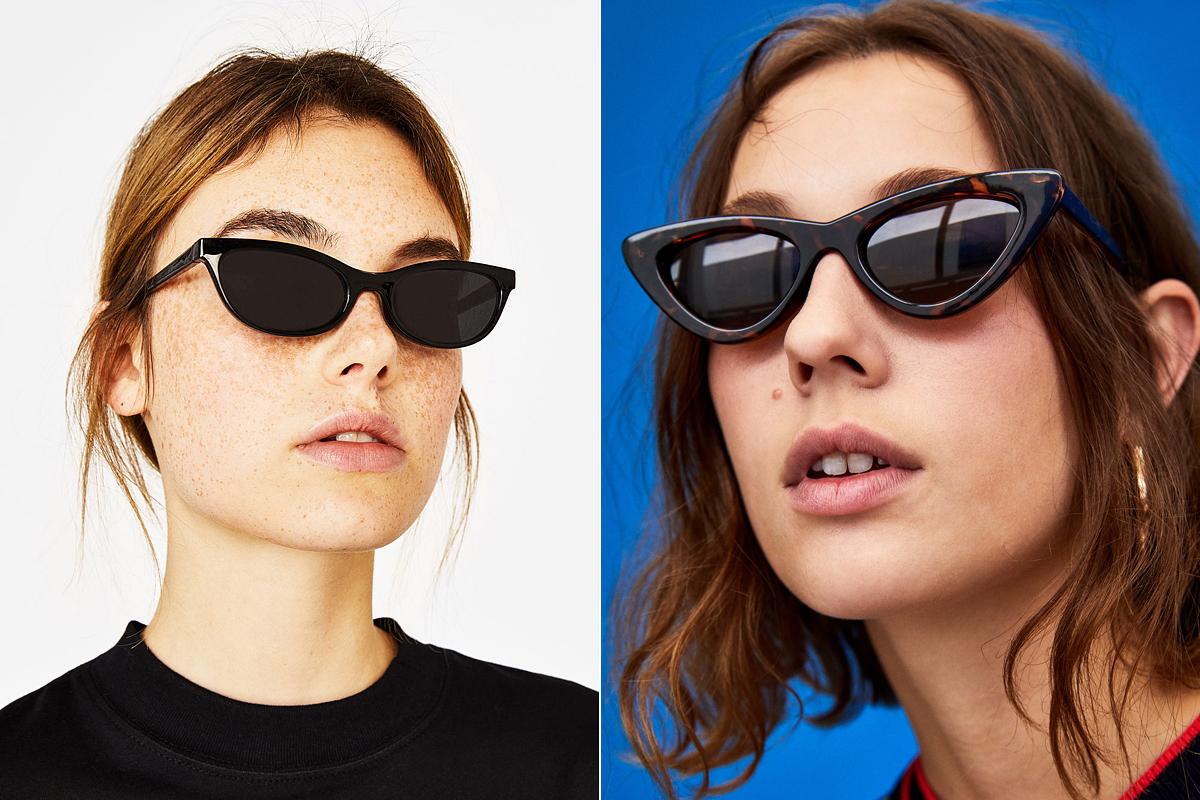 Bella és Gigi Hadid kedvenc napszemüvegfazonjai nálunk is kaphatóak.<br />A Bershka keskeny modellje 2995 forintba, a Zara háromszöglencséjű darabja 4995 forintba kerül.