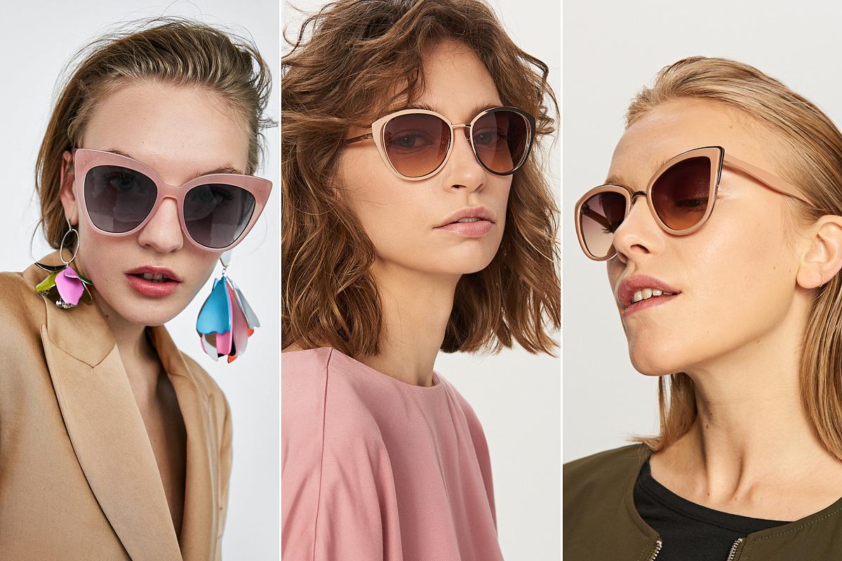 Cicás, dívás és színes egyszerre: az ötvenes évek kedvelt fazonjai rózsaszínben, pirosban és aranyárnyalatban a legnépszerűbbek. A bal szélső szemüvegmodell: Zara, 4995 forint. A középső és a jobb szélső darab egyaránt a Reserved üzleteiben kapható, 3495 forintért.