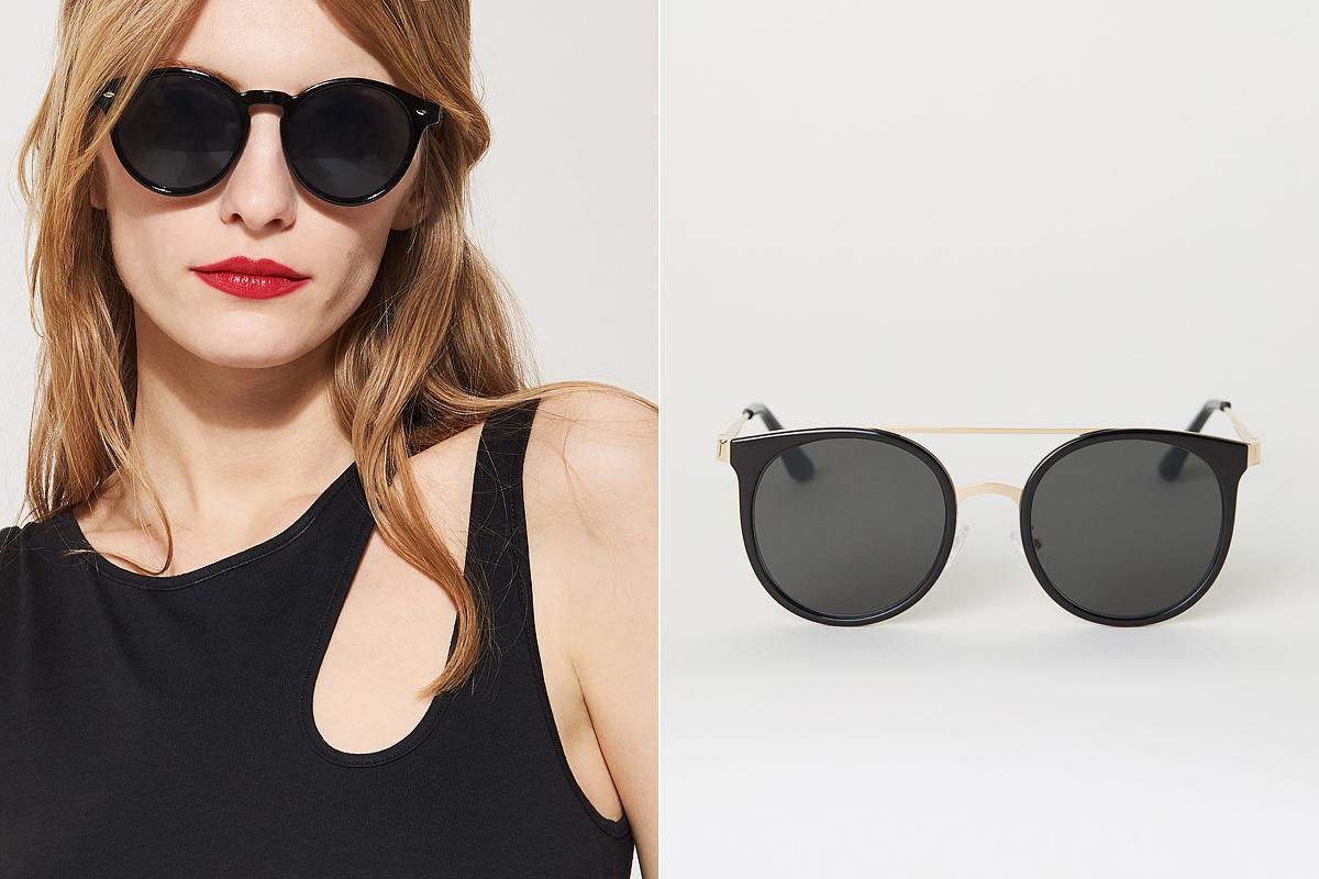 Futurisztikus, retró napszemüvegek: House 1495 forint, H&M 3490 forint.