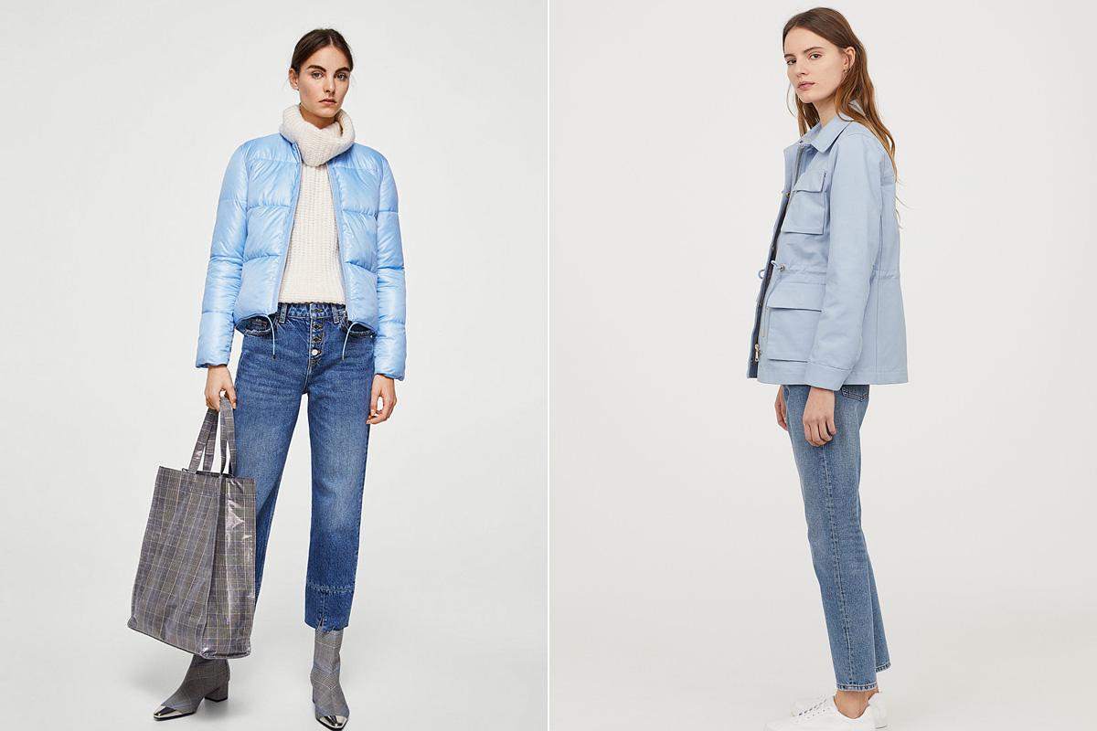 A pasztellkék szintén menő a szezonban: a Fashiondays.hu oldalán a Mango vékony, steppelt dzsekijére bukkanhatsz 9990 forintért, a H&M pamut cargo fazonja pedig 12 990 forintért kapható.
