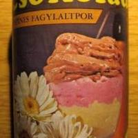 Színes fagylaltpor