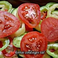 Krétai zöldséges tál